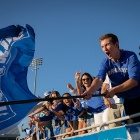 UB Bulls fans at the football home opening game.