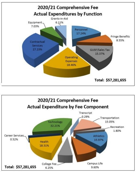 pie chart of comprehensions fee expenditures.
