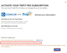 Figure 3 activating and using TripIt