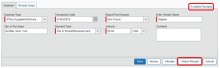 Screenshot of Concur showing where to click to attach a receipt to an expense.