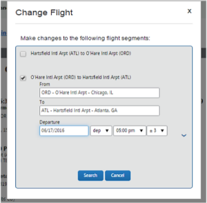 Figure 2 of change airfare reservations.