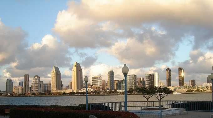 San Diego skyline from Coronado.