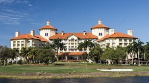The main building of the Ritz Carlton Golf Resort, Naples where Winter College will be held.