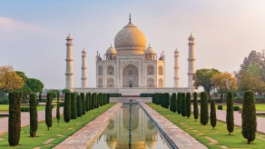 The Taj Mahal in the Indian city of Agra.