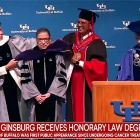 Justice Ruth Bader Ginsburg receiving an honorary degree.