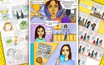 Compilation of comics drawn by high school students around the world.