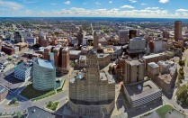 Aerial view of downtown Buffalo, NY.