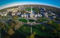 Aerial shot of UB South Campus.