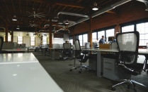 Large open office space.
