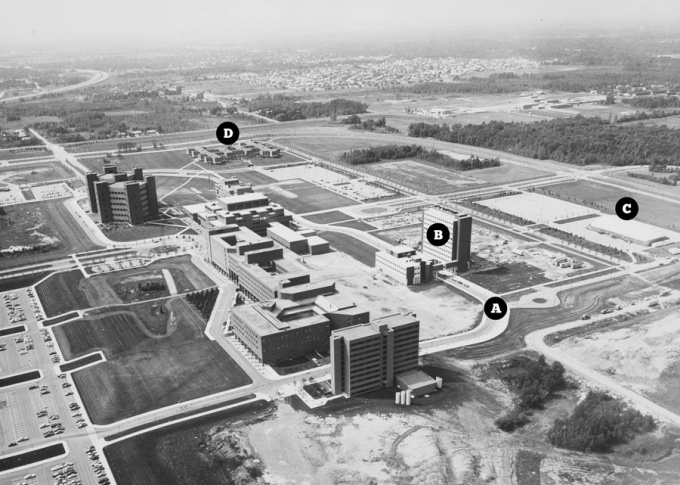 UB Amherst Campus, c.1977. Photo: University Archives