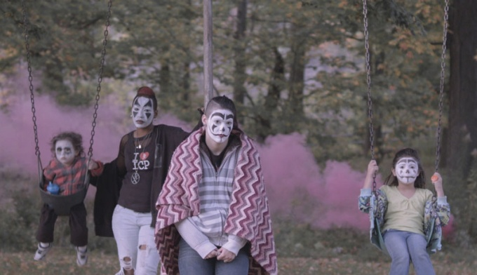 "A typical still from ""Buffalo Juggalos."""