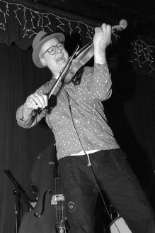 Performing at Tonic in New York City in 2001.