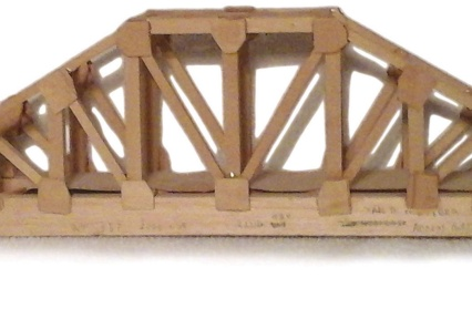 Balsa-wood model bridge