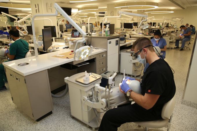 Dental simulation workstation in Squire Hall