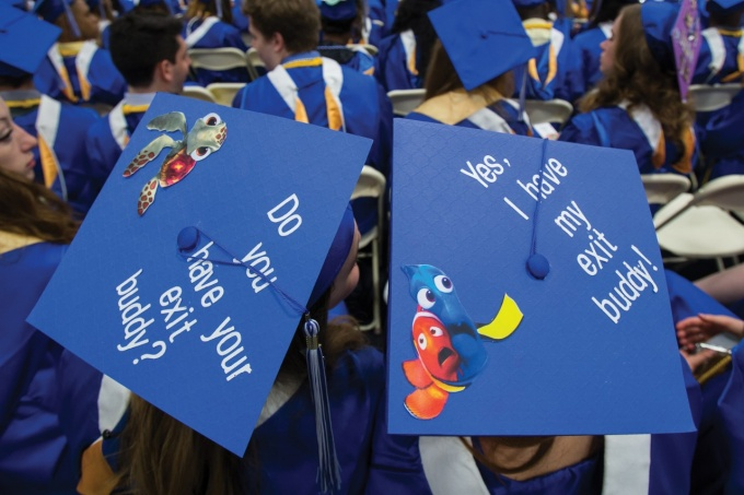 Decorated mortarboards