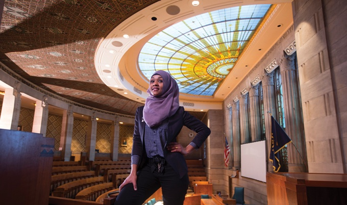 Juweria Dahir at Buffalo City Hall Council Chamber.
