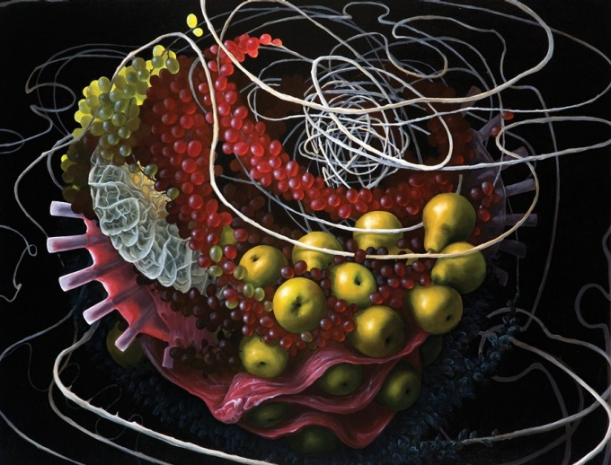 Still Life with Gastric Peptide 2010 Oil on canvas 30 x 36 inches Private collection, Boston, Mass.
