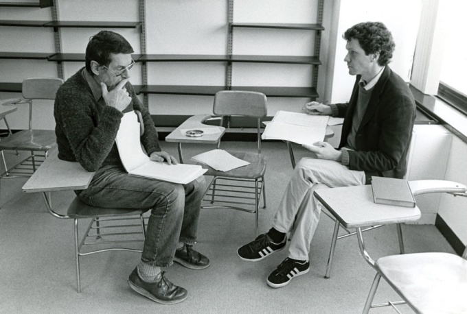 Robert Creeley (left) was a beloved teacher, mentor and colleague to many at UB.