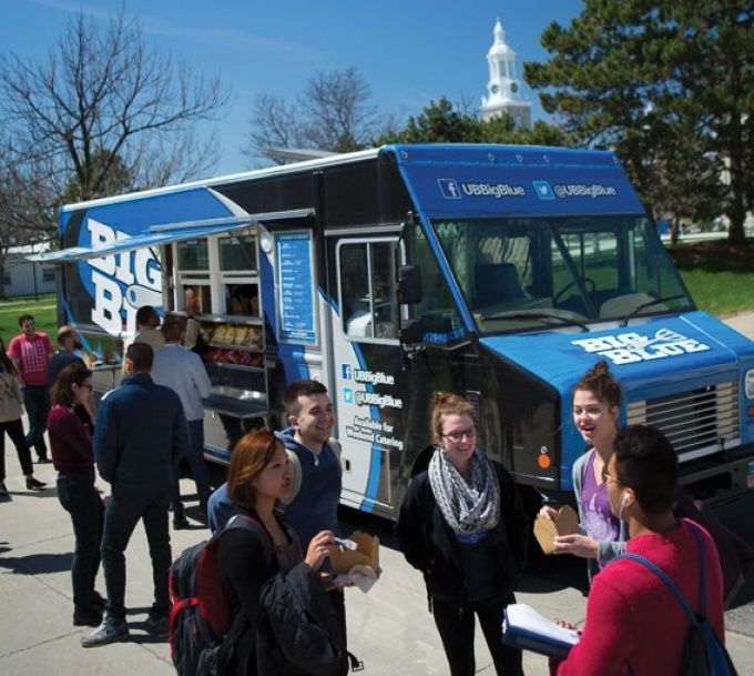 Big Blue serves up lunch on the South Campus.