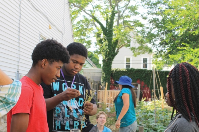 Participants in the Massachusetts Avenue Project's (MAP's) Growing Green Youth Program.