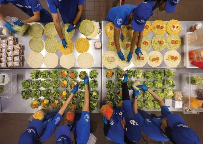 Food production at the Statler Commissary