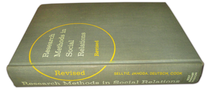 Research Methods in Social Relations (Revised).