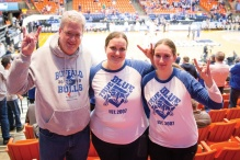 UB Bulls fans at the 2018 NCAA Tournament in Boise, Idaho