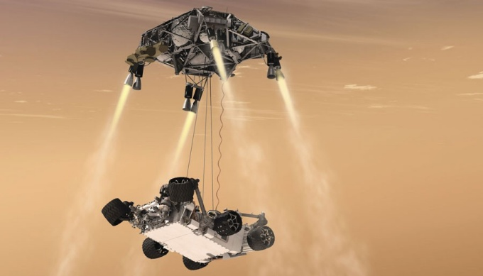 the Curiosity rover's Sky Crane touchdown system
