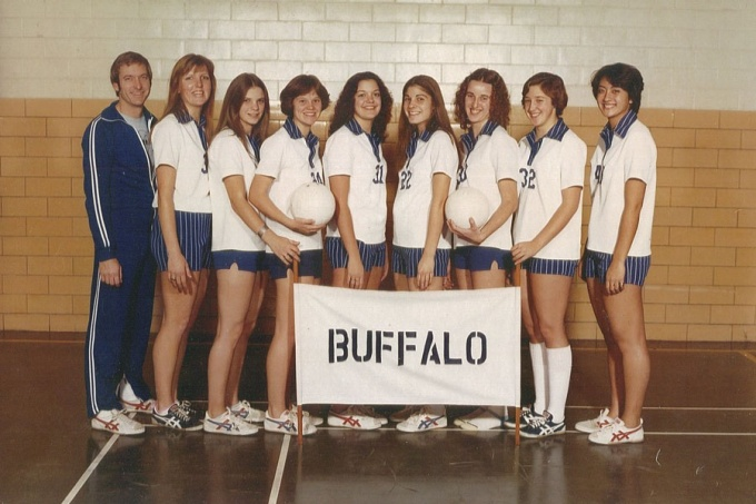 UB Volleyball team, circa 1977.