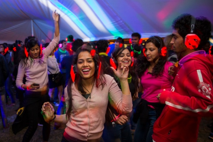 UB Students at the Silent Disco
