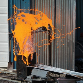 UB's geohazards facility in Ashford, N.Y., fields another lava pour.