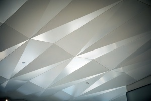 geometric ceiling panels