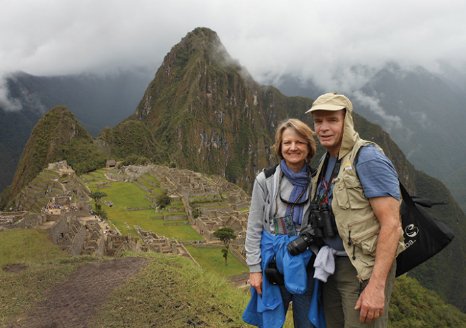 Ken Pulvino and Teri Graf-Pulvino at the summit of Machu Picchu, Peru