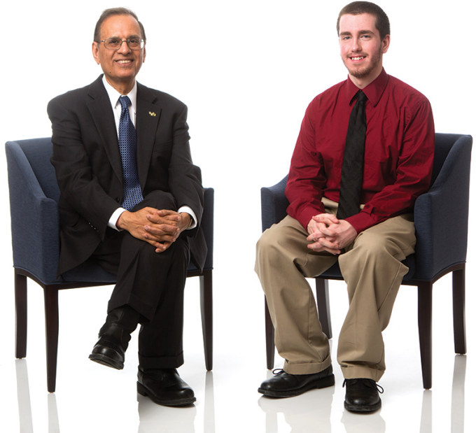 President Tripathi and Alex Detlef