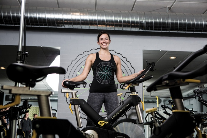 Colleen Kirk, co-founder of Revolution Indoor Cycling.