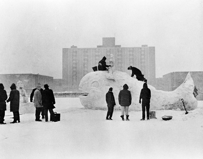 Photo of 1960 WinterFest, courtesy of UB Archives