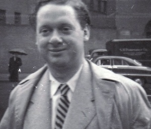 A photo of Thomas in New York City during his final U.S. reading tour in 1953. Credit: Dylan Thomas Collection, UB Poetry Collection.