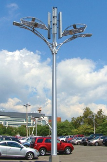 Sustainable parking-lot lights