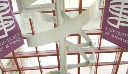 Double Helix at Squire Hall on South Campus