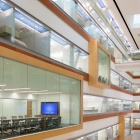 An interior view of the Jacobs School of Medicine and Biomedical Sciences building.