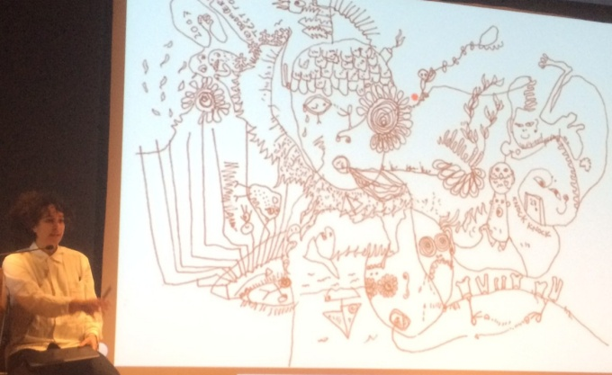 Shantell Martin discussing her creative process