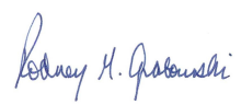 Rod Graboswki signature.