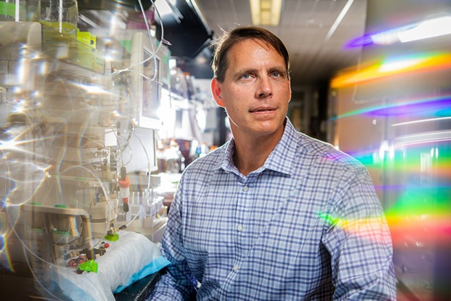 Photo of Joseph P. Balthasar PhD in the research lab.