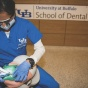International Dentist Program students work in the UB School of Dental Medicine's new simulation lab in Squire Hall.
