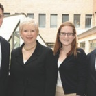 Left to right: Michael Mann '06, Lois Mann, Meghan Corcoran '13 and Philip Mann.