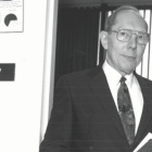Robert M. Gumtow outside of his office at the University at Buffalo.