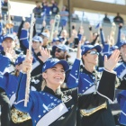 UB marching band members.