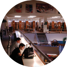 students in the law library