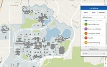 u b north campus map