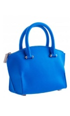 Large royal blue leather handle bag (purse).